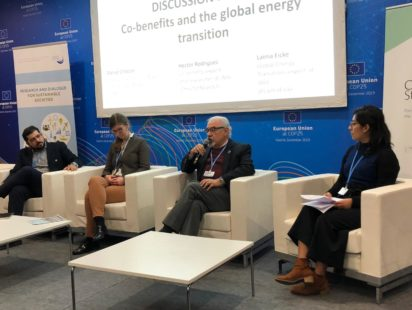 Co-benefits and just transition panel at the EU Pavilion
