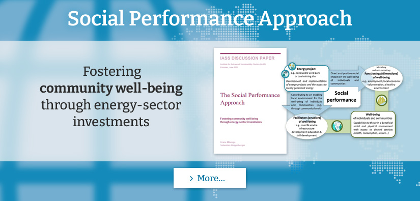 New COBENEFITS Paper: Social Performance Approach